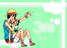 Thanks for 3000 Hits by LittleTasu