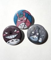 totoro button set by michellescribbles