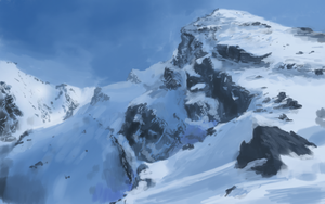 snowy mountain by St-Pete