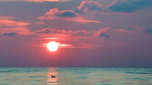 Sunset over Door County by thankyoujames