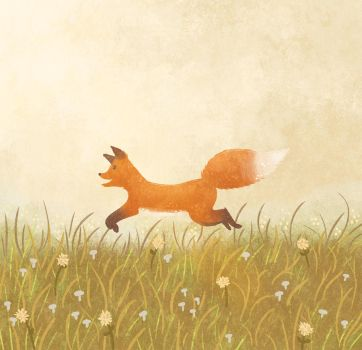 Jumping Fox by morgansketch