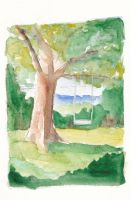 Quick Watercolor Landscape by TheGreenMoon
