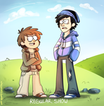 Regular Show. Gravity Falls style. by CherryVioletS