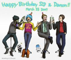 "Happy Birthday 2 ""D""s by KOUYA-SURA"