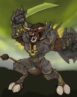 Tauren Warrior by virgiliArt