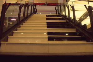 piano staircase by TRANCE--fusion