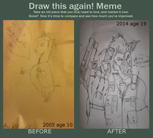 draw this again meme! - All in a day's work by petplayer976