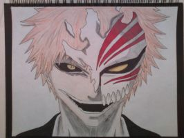 Ichigo Hollow Drawing by SoulReaper919