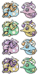 Huntail Gorebyss Babies GSC Sprites by Axel-Comics