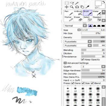 Shade's customized watercolor pencil (PTS) by Nero-Shade