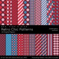 Retro Chic Patterns by MysticEmma