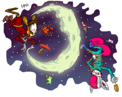 Food Fight on the Moon! by HanksBeanieHat