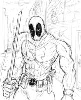 Quick Sketch Deadpool by Charger426