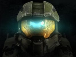 Master Chief Portrait by Kymiez