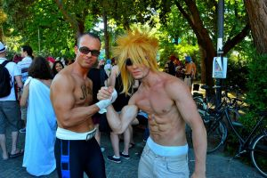 Johnny Cage met Cloud Strife by KillerGio