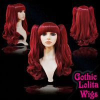 Wavy Wine Red Mix Wig by GothicLolitaWigs
