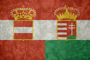Austria-Hungary ~ Grunge Flag (1867 - 1918) by Undevicesimus