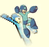 Megaman Jump by Exeivier