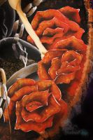 Close Up: 'Dead' Roses by MadArtistParadise