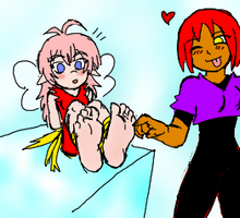 Amy tickling brat fairy Erusa by amyroseater by neverb4