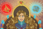 .:Commission:. Starla Winter's Thangka Portrait by Umwak