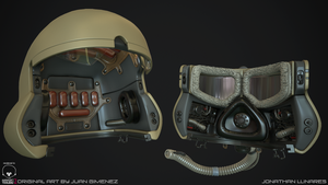 Sci-fi helmet High poly 2 by CougarJo