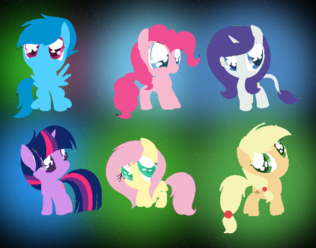 Chibi Mane 6 Next Gen  With Background  By Starlig by guilhermetra