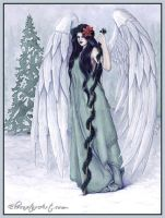 Angel of Christmas by ElvenstarArt