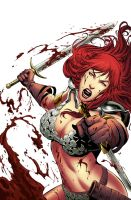 Red Sonja 60 cover color by wgpencil
