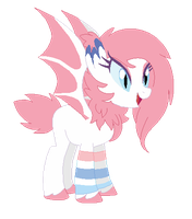 (CLOSED) OTA sylveon bat pony by Monster-Drool