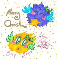 flying beeping fuzzballs Christmas 2013 by Kittychan2005
