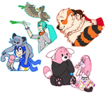 Pokemon + Vocaloid doodles 2 by flyteck