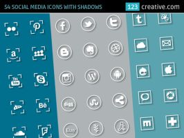 Social media icons by 123creative