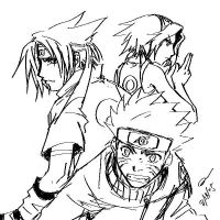 Naruto - Team 7 by majochan