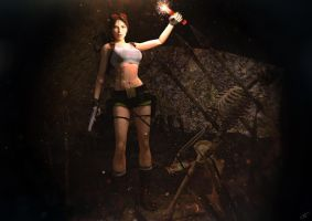 Tomb Raider III - Passing through the cave by Larreks