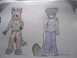 Reskell and Pepper anthro's by Lockian