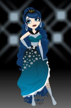 human Princess Luna Pin up maker deluxe by avrilfan1316