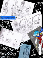 2007 - 2011 progress  XD by FaithTale