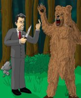 Reagan vs Bear by Kelmo