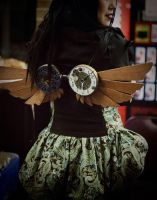Steampunk Wings close-up by livetoletlive