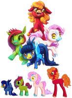 Ponies by Cat-Party