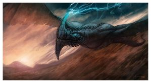 Storm Dragon by ReneAigner