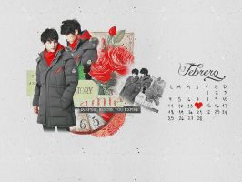 Song Joong Ki Calendar February 2013 by Soraessence