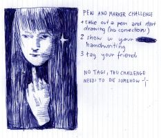 pen and marker challenge by xuh