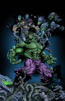 THE DARKNESS VS THE HULK by CRYPTID-MAN
