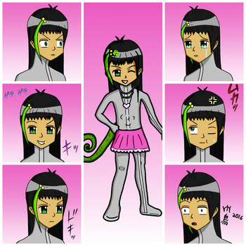 Ashlyn Expressions Challenge (Subsapien) by LadyElasa
