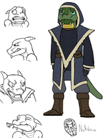 Richard, Argonian Mage by ManDemolition