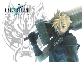 Cloud Strife Wallpaper by EmmiMania