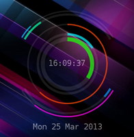 Conky Colour Change Rings v1.1 by mrmrwat