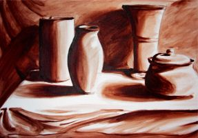 Still Life in Brown by Tomecko